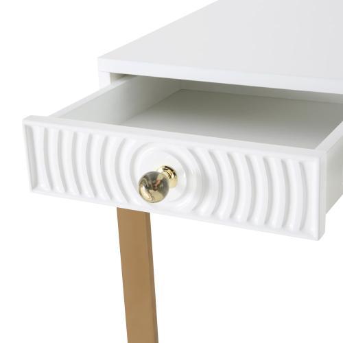 Janie White Lacquer Desk