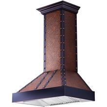 "ZLINE 36"" Designer Series Embossed Copper Finish Wall Range Hood (655-EBBBB-36)"