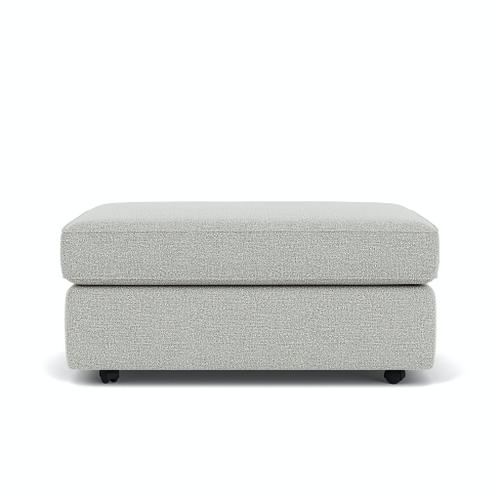 Flexsteel Home - Vail Cocktail Ottoman with Casters