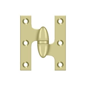 "Deltana - 2-1/2"" x 2"" Hinge - Unlacquered Brass"