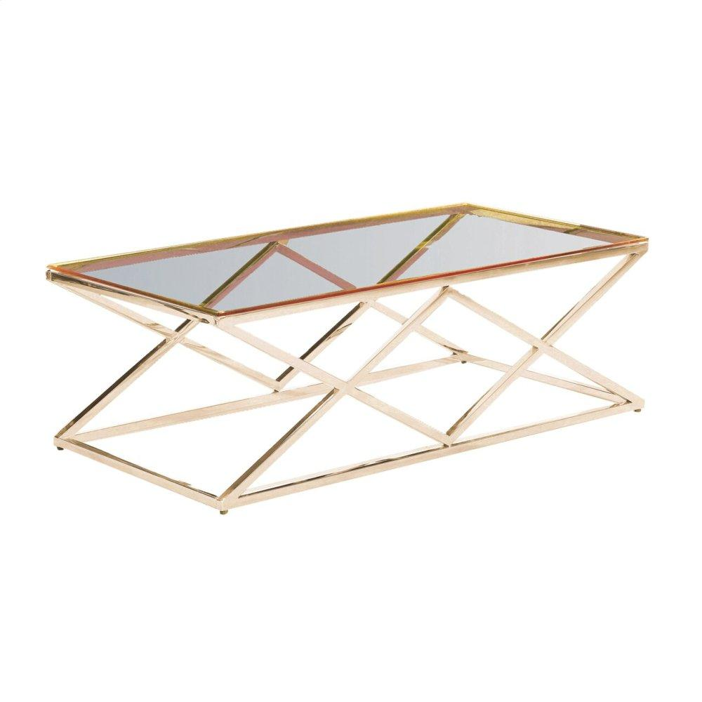 Gold/glass Diamond Cocktail Table, Kd
