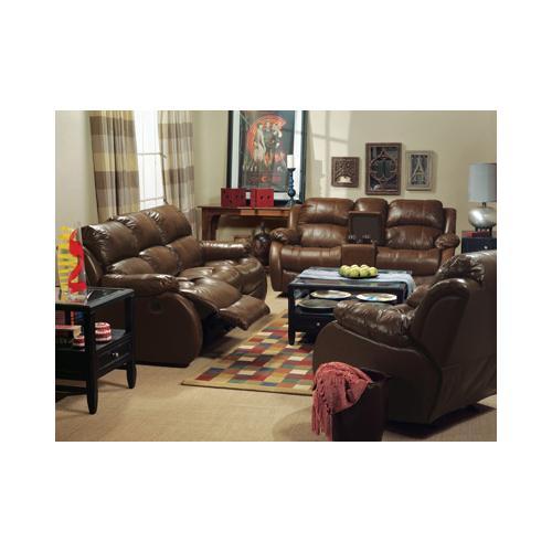 Flexsteel Home - Brandon Leather Gliding Reclining Love Seat