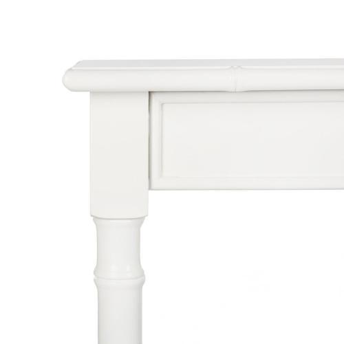 Safavieh - Noam Modern Coastal Bamboo Console Table - White