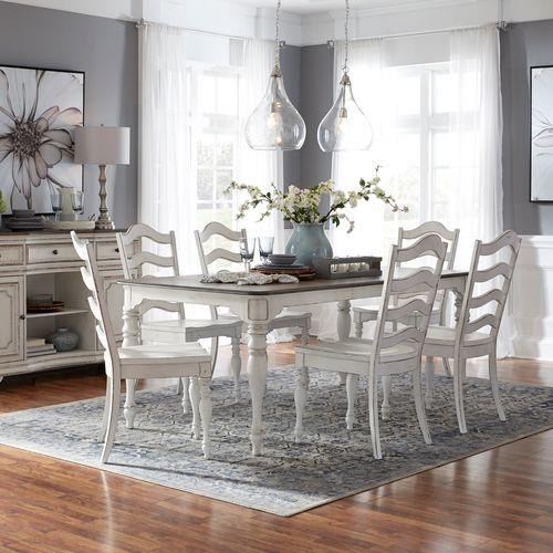 7 Piece Leg Table Set