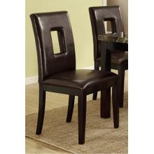 Atticus Dining Chair, Dark-brown-with-cut-out