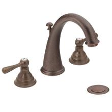 Kingsley Oil rubbed bronze two-handle high arc bathroom faucet