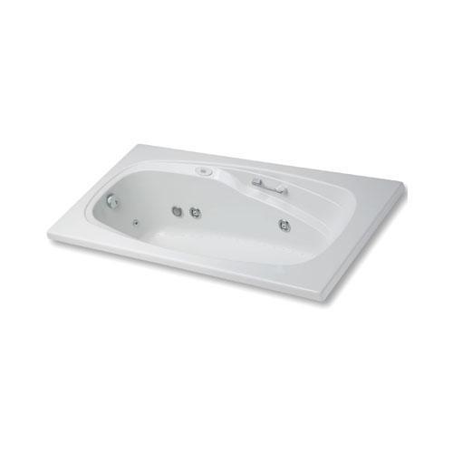 "Easy-Clean High Gloss Acrylic Surface, Rectangular, Whirlpool Bathtub, Standard Package, 36"" X 60"""