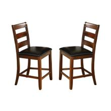 See Details - 8750 BROWN Ladder Back Counter Height Chair