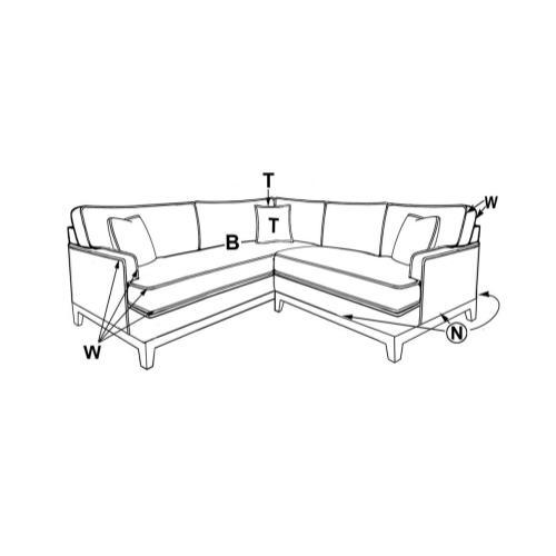 Capris Furniture - 5210 CORNER SECTIONAL PIECES