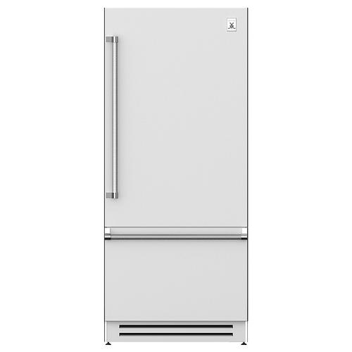 "Hestan - 36"" Bottom Mount, Bottom Compressor Refrigerator - KRB Series - Steeletto"