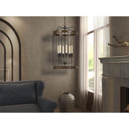 Cantania 60W X 6 Metal Pendant Fixture (Edison Bulbs Not included)