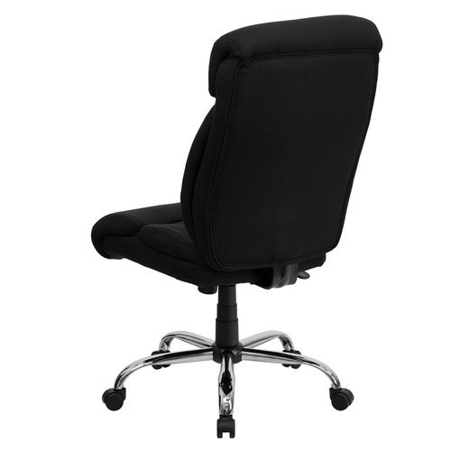 Gallery - HERCULES Series Big & Tall 400 lb. Rated Black Fabric Executive Ergonomic Office Chair and Chrome Base
