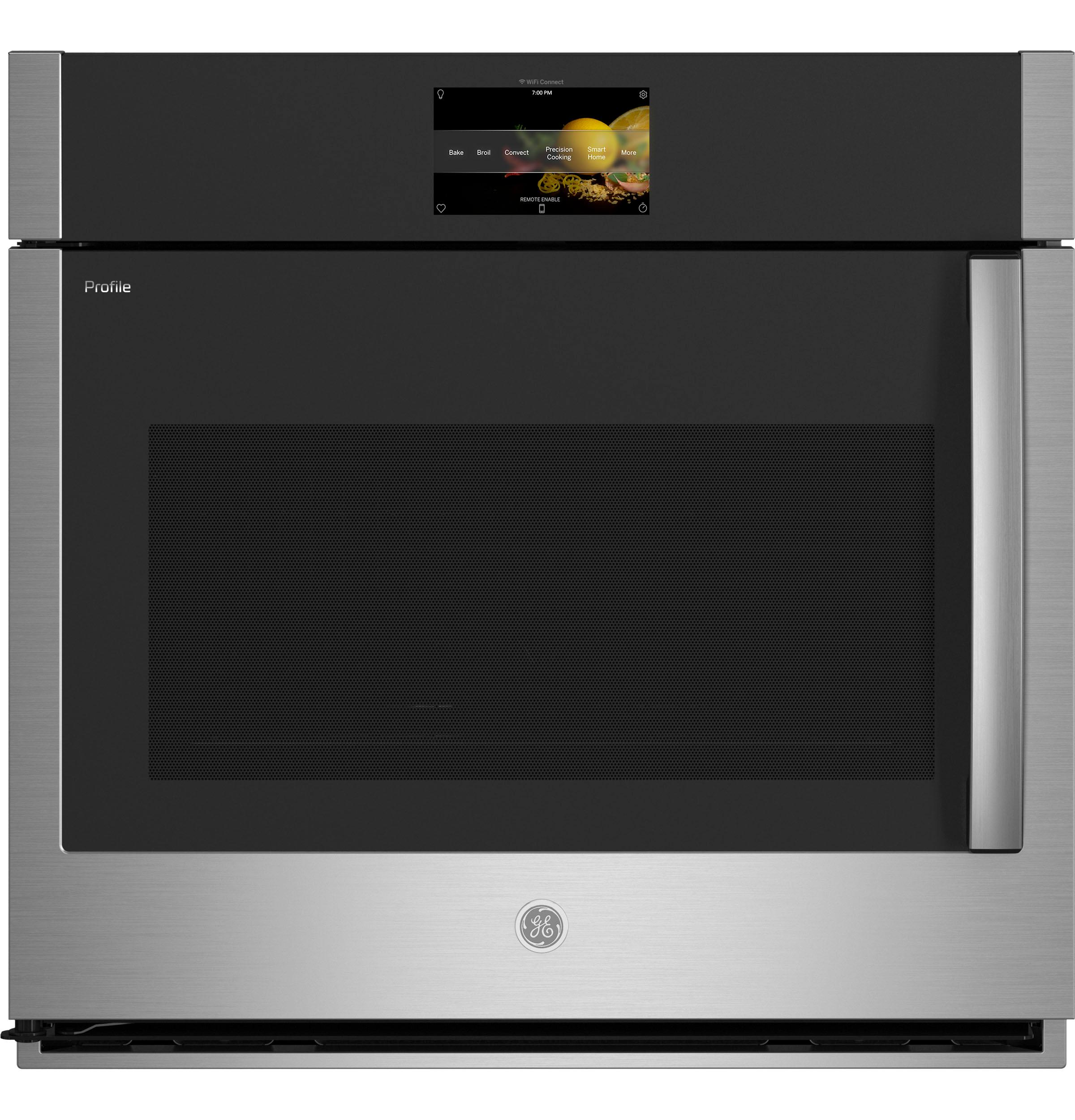 """GEGe Profile™ 30"""" Smart Built-In Convection Single Wall Oven With Left-Hand Side-Swing Doors"""