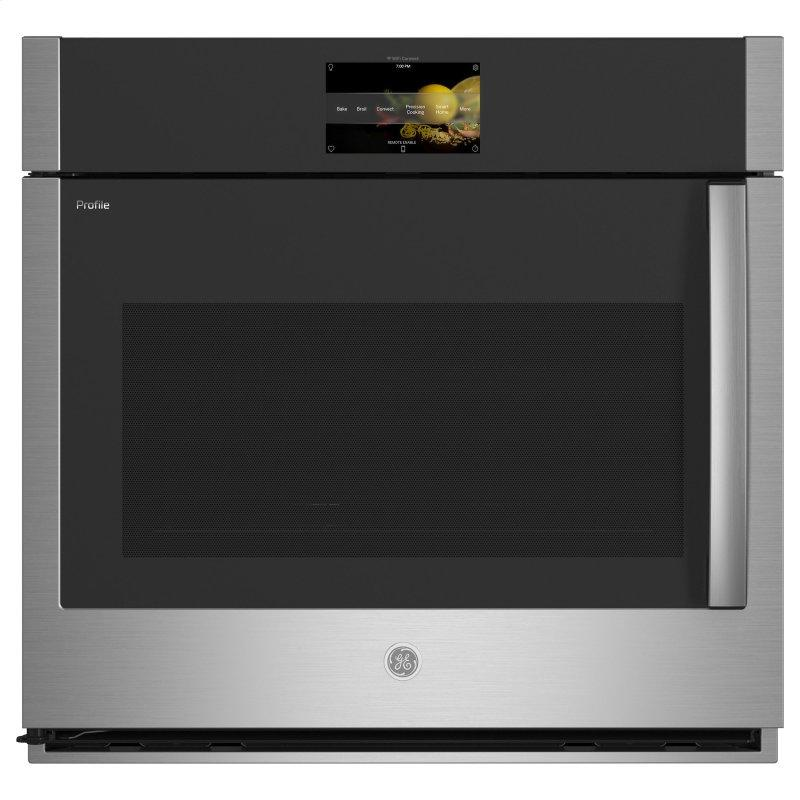 """GE Profile™ 30"""" Smart Built-In Convection Single Wall Oven with Left-Hand Side-Swing Doors"""