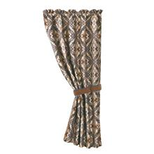 Lexington Slate Blue U0026 Mustard Single Panel Curtain