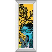 """Ink Chiffon Il"" By Bev Hogue Mirror Framed Print Wall Art"