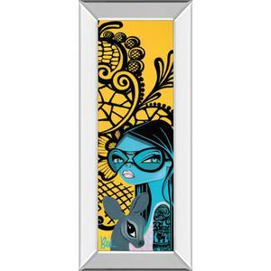 """""""Ink Chiffon Il"""" By Bev Hogue Mirror Framed Print Wall Art"""