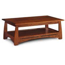 """See Details - Aspen Coffee Table with Inlay, 48""""w x 27""""d x 19""""h"""