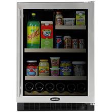 """See Details - 24"""" Marvel Glass Door Refrigerator / Beverage Center"""