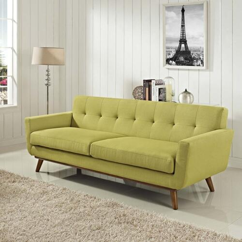 Modway - Engage Upholstered Fabric Sofa in Wheatgrass