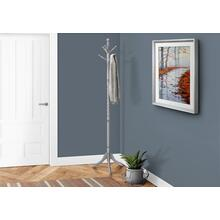 "COAT RACK - 72""H / GREY WOOD TRADITIONAL STYLE"