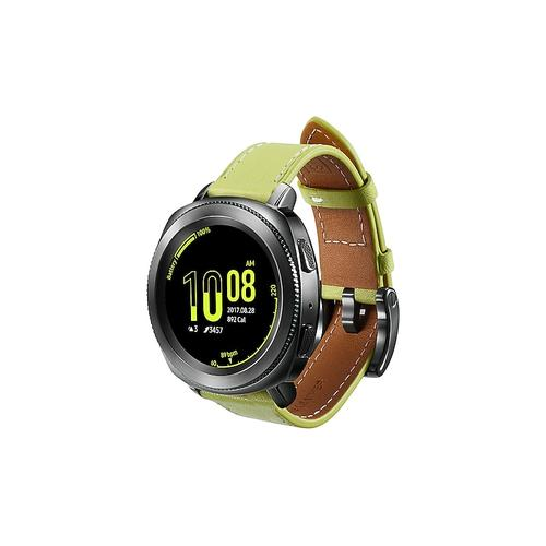 Classic Leather Band for Galaxy Watch 42mm & Gear Sport, Olive Green