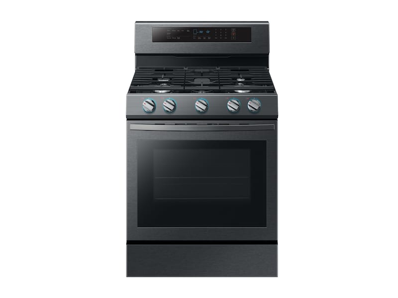 Samsung5.8 Cu. Ft. Freestanding Gas Range With True Convection In Black Stainless Steel