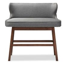 See Details - Baxton Studio Gradisca Modern and Contemporary Grey Fabric Button-tufted Upholstered Bar Bench Banquette