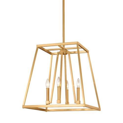 Conant Medium Lantern Gilded Satin Brass