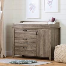Lionel - Changing Table with Drawers, Weathered Oak