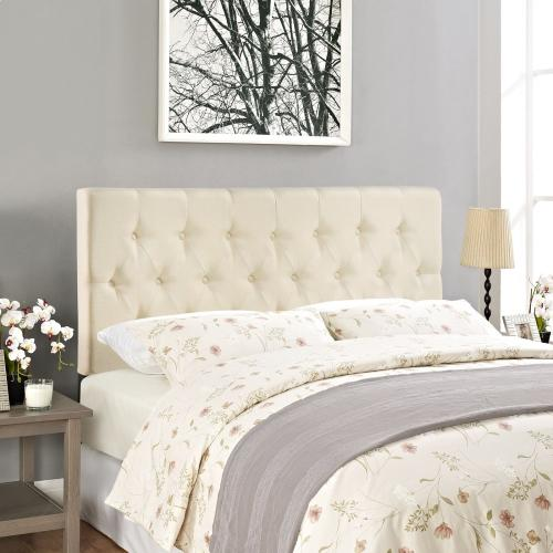Clique King Upholstered Fabric Headboard in Ivory