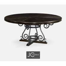 """66"""" Dark Ale & Wrought Iron Dining Table"""