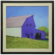See Details - Over The Hill  Textured Framed Print