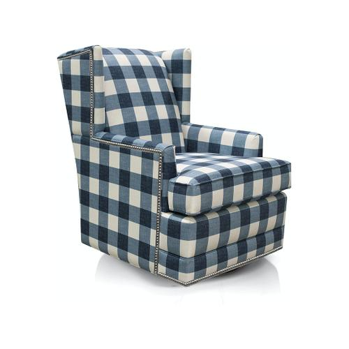 England Furniture - 490-69N Shipley Swivel Chair with Nails