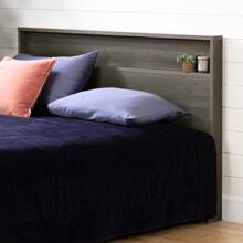 Gravity - Headboard with Shelf, Gray Maple, Full/Queen