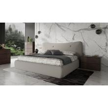 Modrest Alessia - Italian Modern Light Grey Upholstered Bed