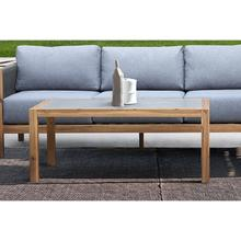 Sienna Outdoor Coffee Table with Teak Finish and Concrete Top