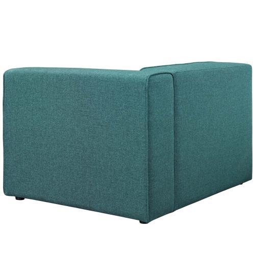 Mingle Fabric Right-Facing Sofa in Teal