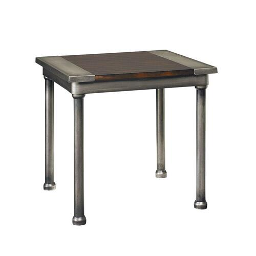 Hudson 3-Pack Aged Steel Accent Tables, Cherry Brown