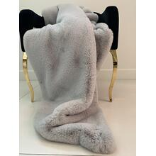 "See Details - Chinchilla Feel Faux Fur Throw - 50"" x 60"" / Silver"