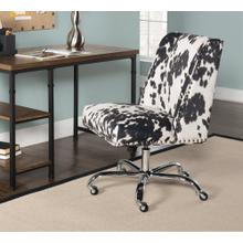 Upholstered Office Chair With Casters, Stripe