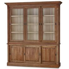 Hudson 88'' Bookcase w/ 3 Sliding Doors