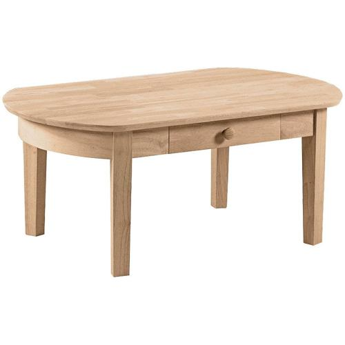 Unfinished Phillips Oval Coffee Table
