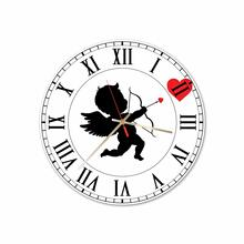 Cupid In Love Round Acrylic Wall Clock