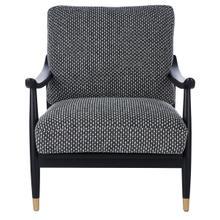 Kiara Mid Century Accent Chair - Black / White