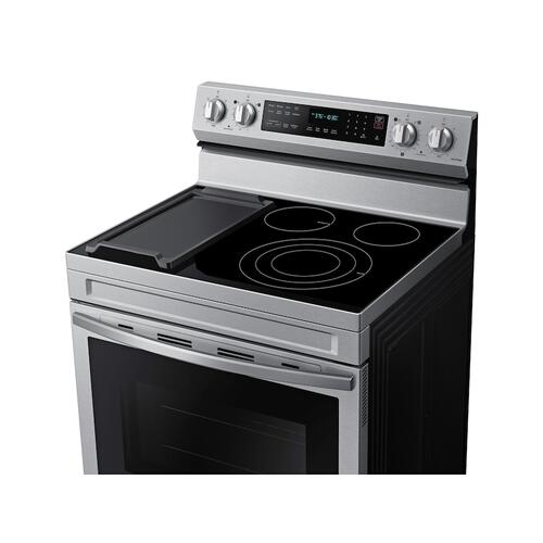 6.3 cu. ft. Smart Freestanding Electric Range with No-Preheat Air Fry, Convection+ & Griddle in Stainless Steel