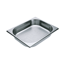 Perforated steam oven pan For blanching or cooking vegetables, fish, meat and potatoes and much more