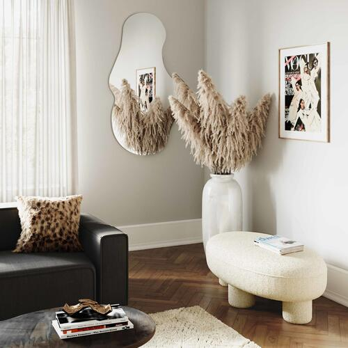 Tov Furniture - Discus Boucle Ottoman