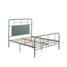 4/6 Full Iron Headboard-footboard-rails-green Finish