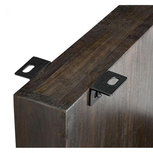 Aspen Slab Dining Base - Dark Walnut
